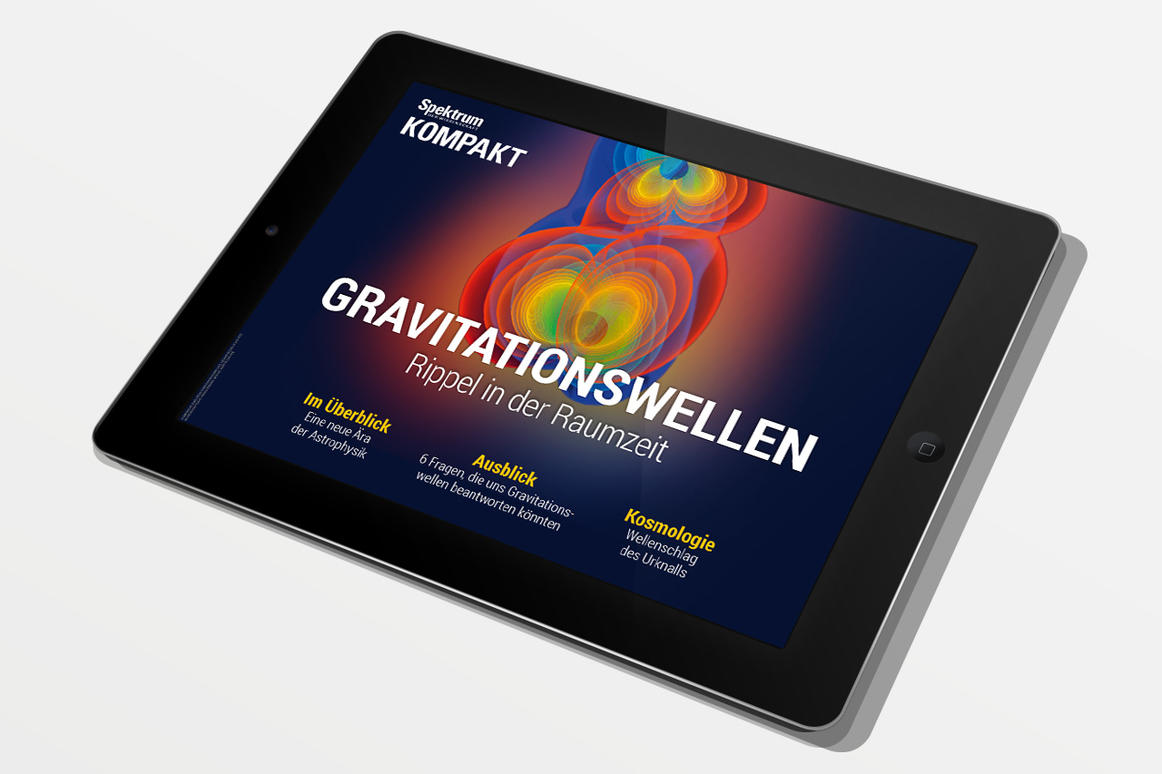 Spektrum Kompakt Gravitationswellen Cover